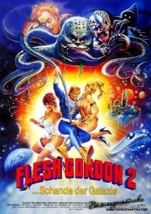 flesh gordon meets the cosmic cheerleaders german poster